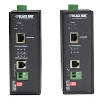 Hardened Power-over-Line (PoL) PoE Ethernet Extender Kit
