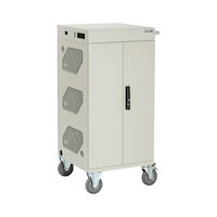 Standard Cart - Basic Distribution Charging, 36-Device, Hinged Door, Hasp Lock, Front Cable Management