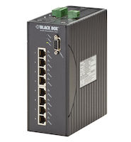 Hardened Managed Ethernet Switch - (8) 10/100-Mbps PoE, DIN-Rail, DC