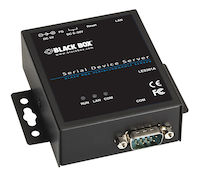 LES300 Series Industrial Serial Device Server - (1) RS-232/422/485 DB9 Male, (1) 10/100-Mbps RJ-45