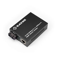 Pure Networking Copper to Fiber Media Converter - 10/100/1000BASE-TX to 1000BASE-LX Singlemode SC, 1310-nm, 20-km