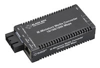 MultiPower Miniature Industrial Media Converter - 10/100/1000-Mbps Copper to 1000-Mbps Duplex Single-Mode Fiber, 10 km, No Power Supply