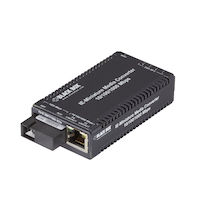 MultiPower Miniature Industrial Gigabit Ethernet Media Converter - Single-Mode, 1310nm TX, 1550nm RX, 10km SC, Single Fiber