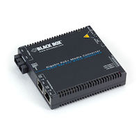 Media Converter Gigabit Ethernet PoE+ Multimode 850nm 550m SC