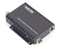 PoE Industrial Gigabit Ethernet Media Converter