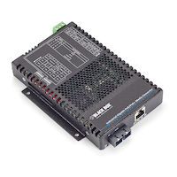 PoE+ Industrial Gigabit Ethernet Media Converter, Multimode, SC, 550-m