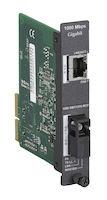 High-Density System II Media Converter Gigabit Ethernet Single Mode 1550nm TX 1310nm RX 15km SC Single Strand Fiber