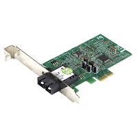 Fast Ethernet (100-Mbps) Network Interface Card - PCIE, 100BASE-FX, SC
