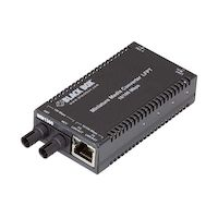 MultiPower Miniature Media Converter - 10Base-T/100Base-TX Ethernet, Multimode, 1300nm, 2km, ST
