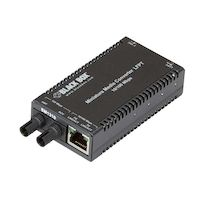 MultiPower Miniature Media Converter - 10Base-T/100Base-TX Ethernet, Single-Mode, 1310nm, 40km, ST