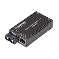 MultiPower Miniature Fast Ethernet (100-Mbps) Media Converter - 10/100-Mbps Copper to 100-Mbps Multimode Fiber, 850nm, 0.3km