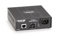 Compact Media Converter - 100BASE-TX/100BASE-BX, 20 km, Single-Mode, Single-Strand, 1310 TX/1550 RX, SC
