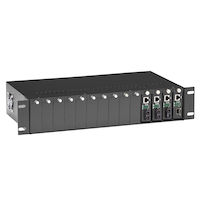 Pure Networking Copper to Fiber Media Converter Chassis - 2U, 14-Slot