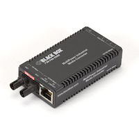 MultiPower Fast Ethernet (100-Mbps) Industrial Media Converter - 10/100-Mbps Copper to 100-Mbps Singlemode Fiber, Hardened Temperature, 1310nm, 40km