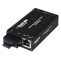 Industrial MultiPower Media Converter, 10-/100-Mbps Copper to 100-Mbps Single-Strand Fiber, 1550-nm TX/1310-nm RX, 60 km