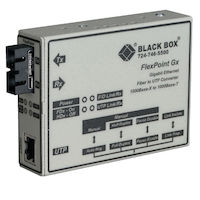 FlexPoint Gigabit Ethernet (1000-Mbps) Media Converter - 1000-Mbps Copper to 1000-Mbps Multimode Fiber, 850nm, 0.3km