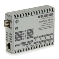 FlexPoint  Modular Media Converter - 10BASE-T/100BASE-TX to 100BASE-FX, Multimode, LC
