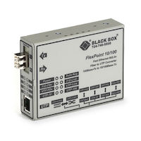 FlexPoint  Modular Media Converter - 10BASE-T/100BASE-TX to 100BASE-FX, Single-Mode, LC