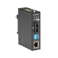 LMC280 Series Fast Ethernet (100-Mbps) Industrial Media Converter - 100-Mbps Copper to 100-Mbps Singlemode Fiber, 850nm, 10km, SC