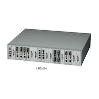 Dynamic Fiber Conversion System Media Converter Chassis 19-Slot Rackmount Managed with 1 DC Power Supply