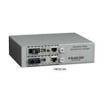 Media Converter Chassis 2-Slot Desktop Managed with 1 AC Power Supply