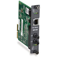 High-Density Media Converter System II 100BASE-TX to 100BASE-FX Duplex Layer 1 Module - Multimode, 1300-nm, ST, 2 km