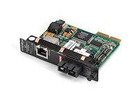 HDMCS II Fast Ethernet (100-Mbps) Managed Media Converter - 10/100-Mbps Copper to 100-Mbps Simplex Singlemode Fiber, 1310nm, 40km, SC