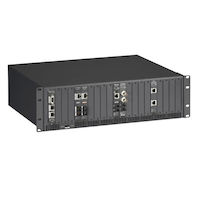 HDMCS II Managed Media Converter Chassis - 20-Slot, Rackmount, Dual AC Power