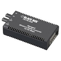 LMM100 Series Managed Miniature Media Converter - 10/100-Mbps Copper to 100-Mbps 1310-nm Single-Mode Fiber, 40 km, SC