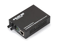 PoE PD Media Converter, 10BASE-T/100BASE-TX to 100BASE-FX, Multimode, ST