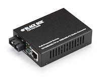 PoE Media Converter, 10BASE-T/100BASE-TX to 100BASE-FX, Single-Mode, SC