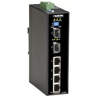 Industrial Gigabit Ethernet Switch - PoE+ Extreme Temperature, 6-Port
