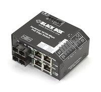 Hardened PoE PSE Switch, (4) 10/100 RJ-45, (2) Multimode SC, -48 VDC
