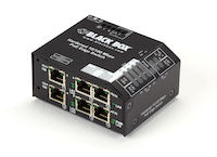 LPH240 Series Fast Ethernet (100-Mbps) Hardened Temperature PoE Switch - (6) 10/100-Mbps Copper RJ45 PoE, 48V DC-Power