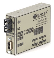 Flexpoint Async RS232 Extender over Fiber - DB9 Female to SC Multimode, 2.5 km