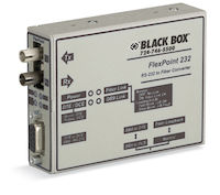 Flexpoint Async RS232 Extender over Fiber - DB9 Female to ST Multimode, 2.5 km