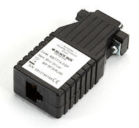 Mini Driver Async RS232 Extender over CATx - DB9 Male to RJ-45