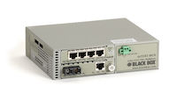 4-Port T1E1, 1-Port 10/100 Ethernet Multiplexor with Fiber Extension - Single-Mode, 30-km, Dual SC