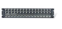 """19"""" Rackmount Panel - 2U, 75-120-ohm, G.703 Balun, 16-Port"""