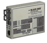 FlexPoint Managed T1/E1 Media Converter - T1/E1 Copper to Multimode Fiber, 1300nm, 5km, SC