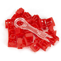 LockPORT Secure RJ45 Port Lock - Red