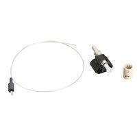 OM1 62.5-Micron Multimode Pre-Polished Fiber Optic Connector - ST, Beige, 6-Pack