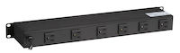 "19"" Rackmount Power Strip, 6 Rear Outlets, Switchable"