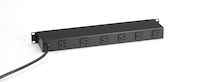 "Rackmount Power Strip - 19"", Non-Switchable, (6) Rear Outlet"