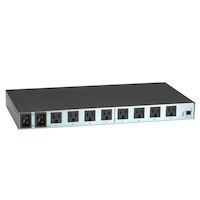 1U Power Manager, Iec-320-C13 Outlets, Single Circuit