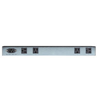 1U 15-Amp Rackmount Outlet Power Strip, 6-Outlets