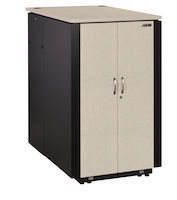 "QuietCab Soundproof Server Cabinet - 12U, M6 Square Holes, 29.5""W x 44.6""D x 27.7""H"
