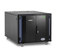 "Elite QuietCab Soundproof Server Cabinet - 12U, 28""H x 31""W x 48""D, M6 Rails, 1100 lb. Capacity"