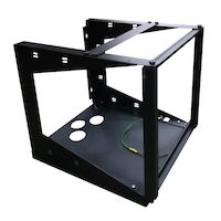 Wallmount Rack - 11U, 12-24 Tapped Rail Holes, 75 lb. Capacity
