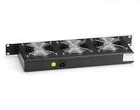 "Horizontal Rackmount Fan Tray - 1U, 19"", (3) Fans"